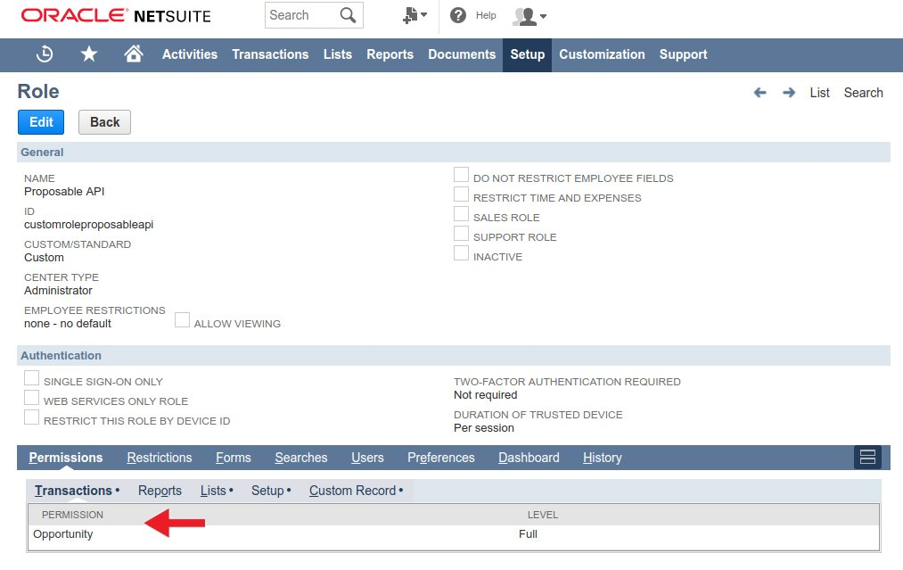 Netsuite role transactions
