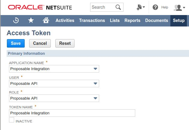 Netsuite token creation