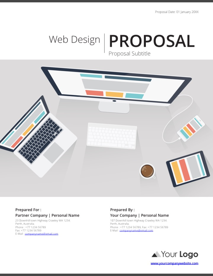 Web Design Proposal Template. Clean Proposal Template Creative ...